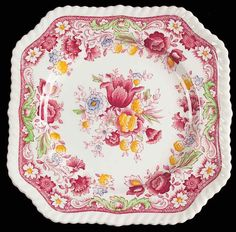 2:5 Valentine Tea Party at Gram Murray's, We used this china. ❤️ Johnson Brothers WINCHESTER Square Salad Plate