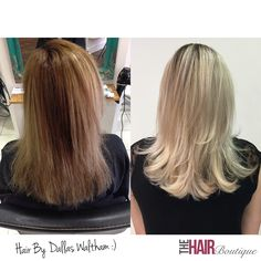 A beautiful ash blonde colour transformation by Dallas Waltham in our Exeter Hair Salon. Dallas, who is one of our Senior Stylists, used Goldwell US products to produce this amazing colour. He also used Olaplex to improve the strength, condition and health of the hair. We were so impressed when we saw this before and after shot, what do you think? Are you thinking about a change of colour?