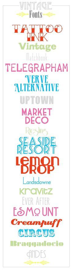 Favorite Free Vintage Fonts