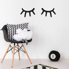 For sleepy kids. Sleepy Eyes Wall Sticker – Not On The High Street.