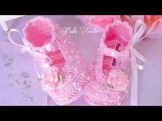 Sapatilha Alice em Crochê- tamanho 10cm - YouTube