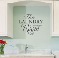 The Laundry Room vinyl wall decal sticker by circlewallart on Etsy