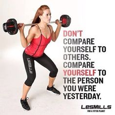 LOVE THIS QUOTE SO MUCH!!! When you stop comparing yourself to others you'll realize you are your only competition! It's YOU vs. YOU!!!! Les Mills Pump and Combat are amazing fat burning & muscle toning workouts ~ Challenge groups starting on April 7th.   www.raynaberg.com