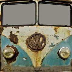 VW Rusty Duvet Cover by Alice Gosling | Society6
