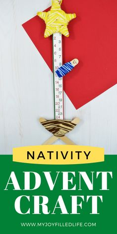 Get ready to count down to Christmas with your kids with this adorable nativity craft. This is a fun, yet easy way to countdown to Christmas, all the while focusing on Christ. Head over to My Joy-Filled Life for instructions and a free printable. #adventcalendar #christmascountdown #nativitycraft Christmas Calendar, Printable Christmas Cards, Christmas Countdown, Christmas Greeting Cards, Christmas Greetings, Kids Christmas, Merry Christmas, Advent Calendar Activities, Craft Activities For Kids