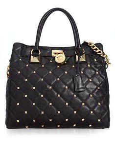 MICHAEL Michael Kors Handbag, Hamilton Quilted Large Tote - Handbags & Accessories - Macy's