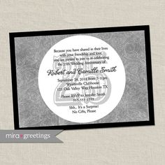 25th Anniversary Invitation  Silver Wedding by miragreetings
