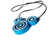 Blue Black and White Necklace - Paper Craft by PurpleSmoothie, $18.00  -------------- www.purplesmoothie.etsy.com