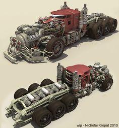 INSPIRATION : Principe de véhicule d'Erwann, époque des exploitations forestière de Mans-Field