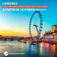 Voos para Londres - Inglaterra em promoção!  Saiba mais: https://www.passagemaerea.com.br/londres-promocao.html  #londres #inglaterra #viagem #ferias #passagemaerea