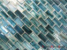 kitchen recycled glass backsplash