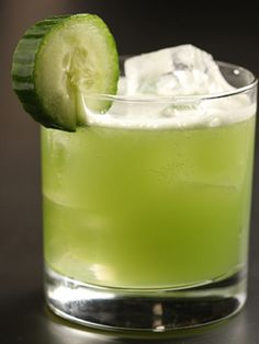 The Half Windsor (1½ oz. Voli Vodka ¾ oz. cucumber juice  ½ oz. agave necter ½ oz. lime juice)
