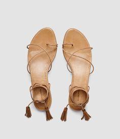 Perfect leather sandal: AllSaints Dorica flat sandal