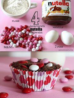 Nutella Brownies ~ just 4 ingredients!