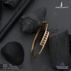 Plain Gold Bracelet gms) - Fancy Jewellery for Women by Jewelegance Gold Chain Design, Gold Bangles Design, Gold Earrings Designs, Gold Bracelet For Women, Gold Bangle Bracelet, Diamond Bracelets, Gold Jewelry Simple, Indian Gold Bangles, Dart Frogs