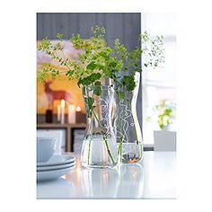 BLOMSTER Vase, Klarglas, gemustert - IKEA