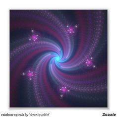 rainbow spirals photo print