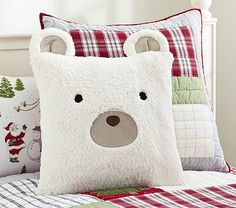 Sherpa Bear Sham #pbkids- oh my goodness, too cute I'm buying this unless someone what's to buy it for me