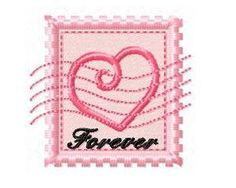 """Free design:  Valentine Forever Stamp [with, or without, """"forever""""]"""
