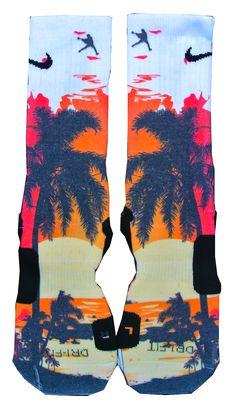 Custom Nike Elite Socks - Sunset   Only made by Lacrosse Unlimited!!