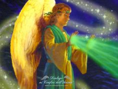 How To Heal Yourself With The Help Of Archangel Raphael Guardian Angel Pictures, Angel Images, Guardian Angels, Animated Love Images, Images Gif, Seven Archangels, Angels Beauty, Jesus Painting, Spiritual Images