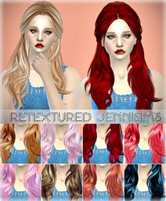Jenni Sims: Butterflysims 078 and 091 hairstyles retextured - Sims 4 Hairs - http://sims4hairs.com/jenni-sims-butterflysims-078-and-091-hairstyles-retextured/