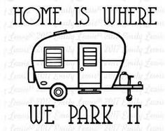 Trailer svg, RV svg, Camper rv, Outdoors, Silhouette