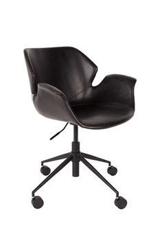 Nikki office chair - All black Office Chair Wheels, Black Office Chair, Boutique Interior Design, Office Interior Design, Disabled Shower Chair, Eames Chair Replica, Compact Table And Chairs, Restaurant Tables And Chairs, Interior Design Offices