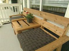 DIY patio furniture. Hello sun room!