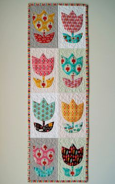 Tulip Time Quilt Free Pattern