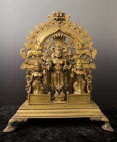 Vishnu and Consorts, Enthroned