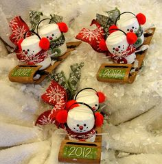 Items similar to Three Times The Fun With The Cutest Snowmen On Toboggans on Etsy Christmas Ornament Crafts, Christmas Wine, Christmas Crafts For Kids, Christmas Decorations To Make, Holiday Crafts, Wine Craft, Wine Cork Crafts, Wine Cork Art, Wine Corks