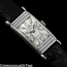 1920's VACHERON & CONSTANTIN Vintage Mens Watch - PLATINUM & DIAMONDS #VacheronConstantin