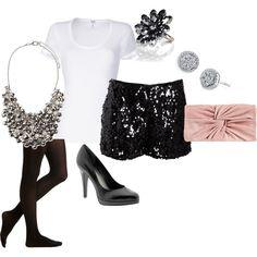 Sequin shorts :)