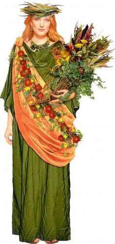 Demeter is the Greek goddess of agriculture and the bountiful earth.