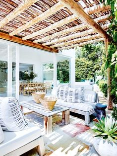 stunning backyard ideas for patios, porches, and decks 55 45 Outdoor Rooms, Outdoor Living, Indoor Outdoor, Outdoor Decor, Outdoor Lounge, Backyard Storage Sheds, Gazebos, French Style Homes, Mediterranean Decor
