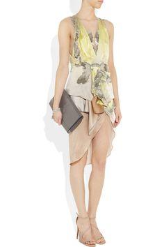 JULIEN MACDONALD  Koi bead-embellished silk-habotai dress  beautiful dress <3  a dress that makes a statement