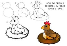 Daryl Hobson Artwork: How To Draw A Chicken Step By Step