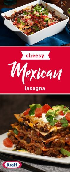 Cheesy Mexican Lasagna – Sink your teeth into a flavorful dinnertime dish tonight. This recipe brings together all your favorite Tex-Mex flavors and traditional taco toppings in a whole new way thanks to this creation.