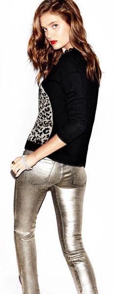 metalic jeans