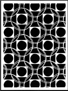 Square Dance Stencil designed by Terri Stegmiller for StencilGirl Products $14.00