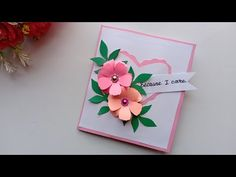 Watch my video and i show you guys fast and cheap way to make Valentine's day 2019 card. Learn how to create a Valentine's Day card,I have some pretty awesom. Love Craft, Craft Work, Handmade Birthday Cards, Greeting Cards Handmade, Colored Paper, Diy Cards, Valentines Day, Christmas Cards, Projects To Try