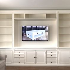 Open bookcase with tv space in the middle. Buy now online We deliver all Europe ! Multimedia, Open Bookcase, Buy Now, Middle, Europe, The Unit, Space, Stuff To Buy, Furniture