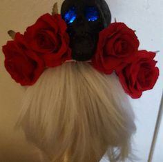 Halloween Ready to ship LED LED rose crown Skull by msformaldehyde