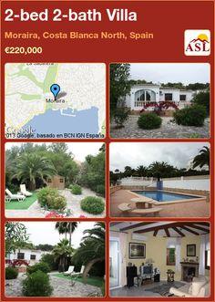 2-bed 2-bath Villa in Moraira, Costa Blanca North, Spain ►€220,000 #PropertyForSaleInSpain
