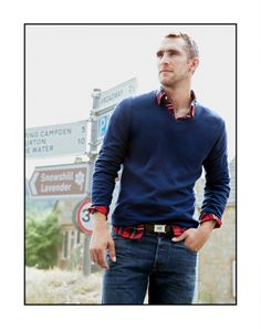 Again simple with a bit of color.  If you have one pair of black jeans and one dark denim plus a black sweater and a color sweater (blue?). You can really mix up a nice clean look just by throwing a different shirt, t, or even a tie under it