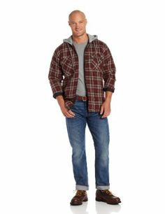 4ade3c8ce30 For Billy - Wrangler Men s Riggs Workwear Hooded Flannel Work Jacket