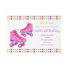 Roller Skate Birthday Party Invitations from http://www.zazzle.com/roller+skate+party+invitations
