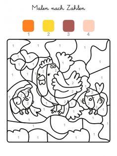 ausmalbild malen nach zahlen: torte zum 9. geburtstag ausmalen kostenlos ausdrucken | color