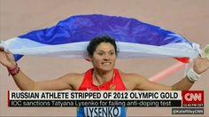 CNN: Метательницу молота Лысенко лишили олимпийской медали из-за допинга http://feedproxy.google.com/~r/KleinburdNewsRu/~3/F4r3Ispytqg/  Еще одну российскую спортсменку лишили олимпийской медали. В 20112 году в Лондоне Татьяна Лысенко завоевала золото в метании молота. Но ее признали виновной в употреблении допинга. Бывшая чемпионка мира провалила тест на стероиды во время перепроверки ее проб. Но это не первый раз, когда признали виновной в жульничестве. Еще в 2007 году ее отстранили от […]